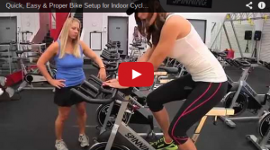 A still shot of a YouTube video on how to set-up your Spin Bike.