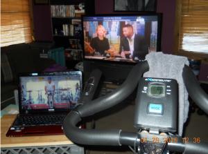 An image of a SSoD user's workout set-up.
