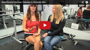 A still shot of a YouTube video discussing alcoholic drink choices.