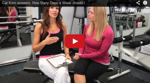 A still shot of a YouTube video discussing how many days per week one should workout.