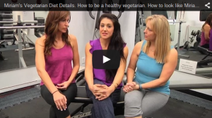 A still shot from a YouTube video on how to be a health vegetarian.