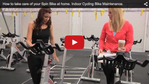 A still shot of a YouTube video on how to take care of your Spin Bike at home..