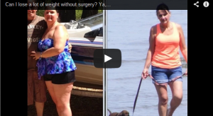 A still shot of a YouTube video about losing weight without surgery.