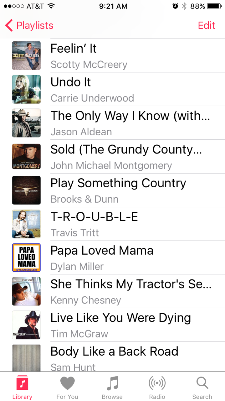 Country Ride Class Playlist 1