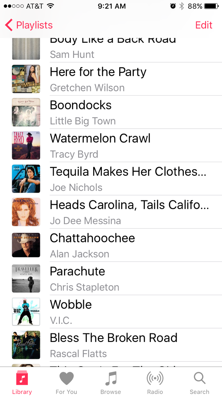Country Ride Class Playlist 2