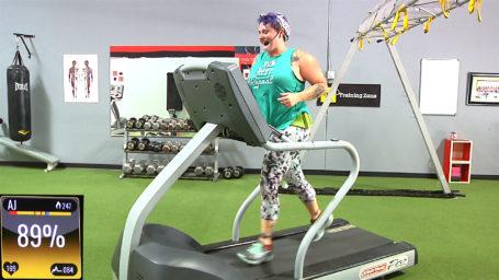YOU vs. YOU Interval Fun Run online treadmill workout