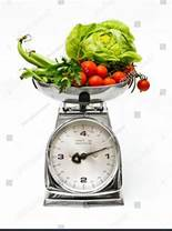 vegetables being weighed