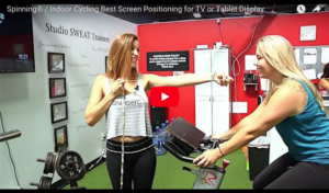 Spinning / Indoor Cycling Best Screen Positioning for TV or Tablet Display