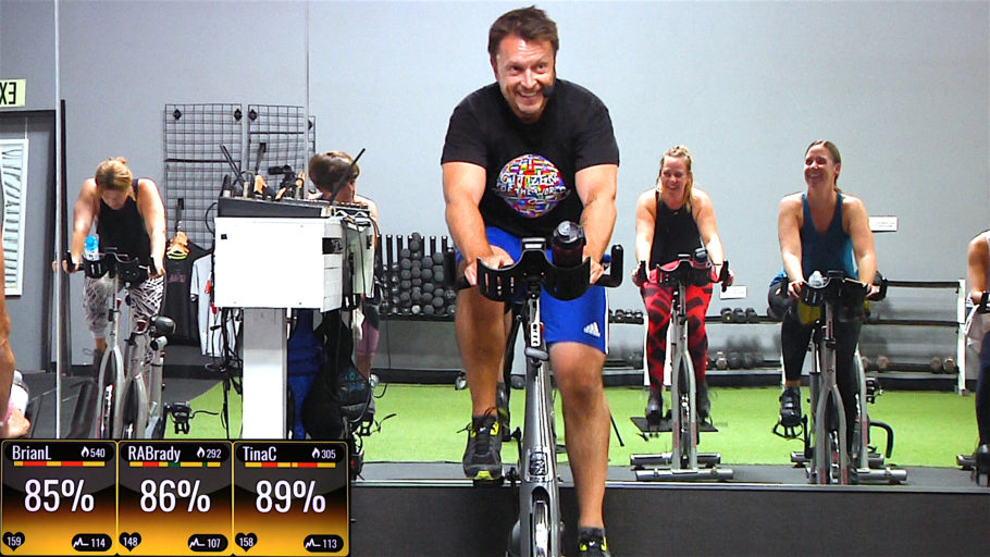 60 minute indoor cycling class StraightUp Spin® - World Wide Sweat