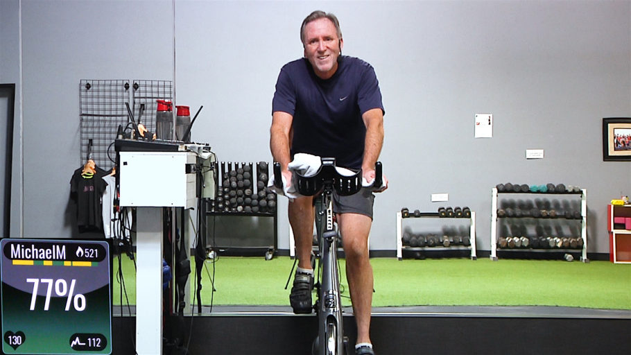 Spinning class designed for the active older adult Age is Relative