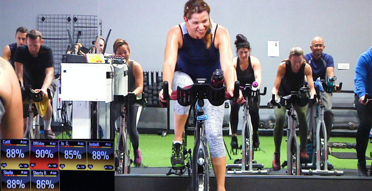 online Spin class that focuses on heart rate zones The Zone Ride