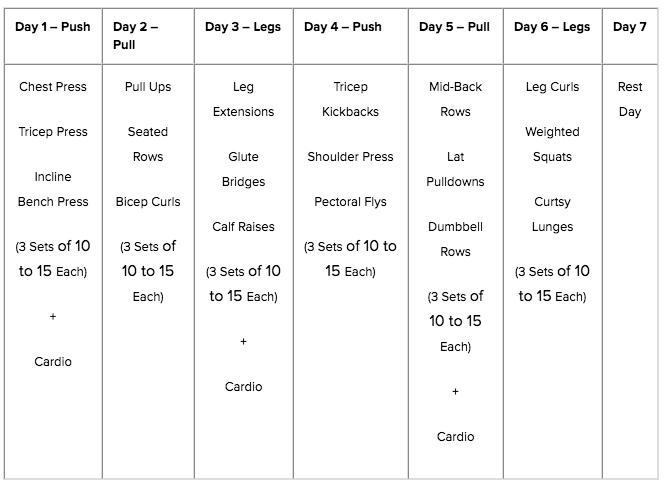 Push Pull Legs Routine 3