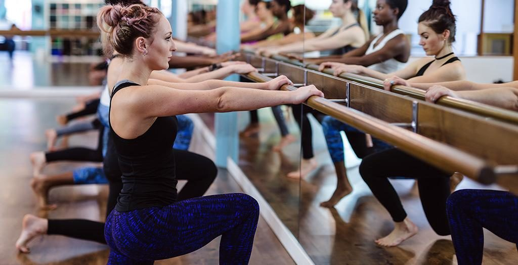 barre lunge