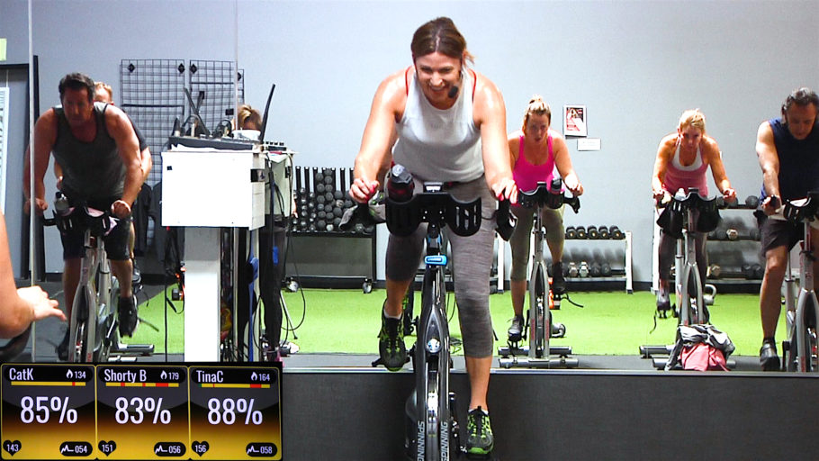 Spin and Strength workout Bike, Bell & Burn (TRX® option)