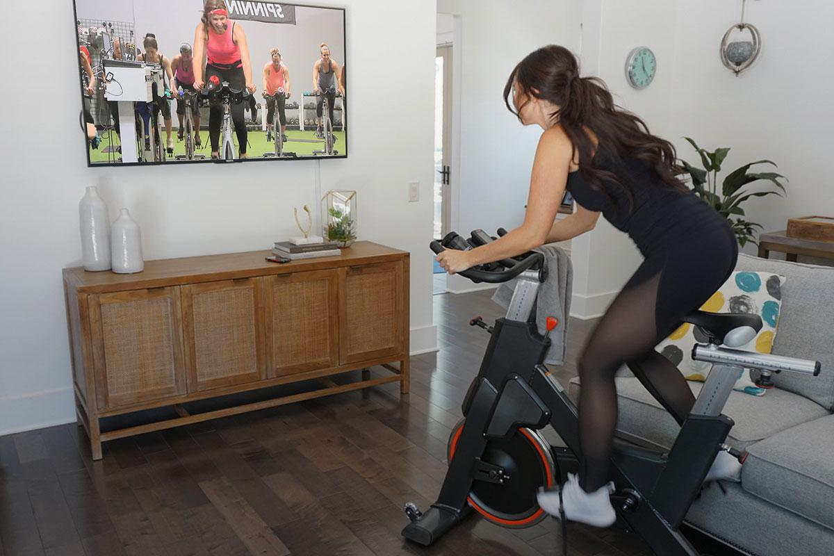 spin class at home