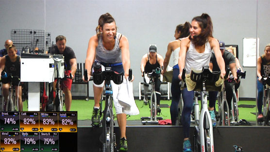 Spin Fusion class with Spinning, Yoga, and Weight Lifting Cycle Sculpt & Yoga