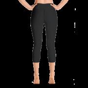 Zen Warrior Capri Yoga Pant – Black