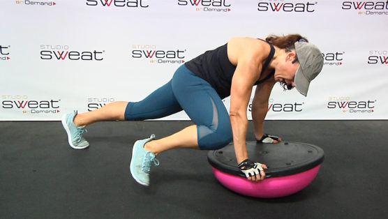 core workout using the BOSU Core Carver