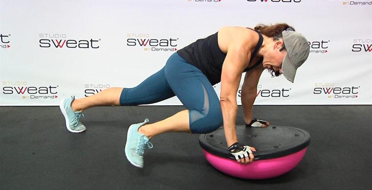 core workout using the BOSU Core Carver
