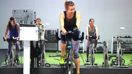 online Tabata workout with your Spinning bike and weights Tabata Torch & Tone