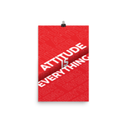 Attitude is Everything - Red