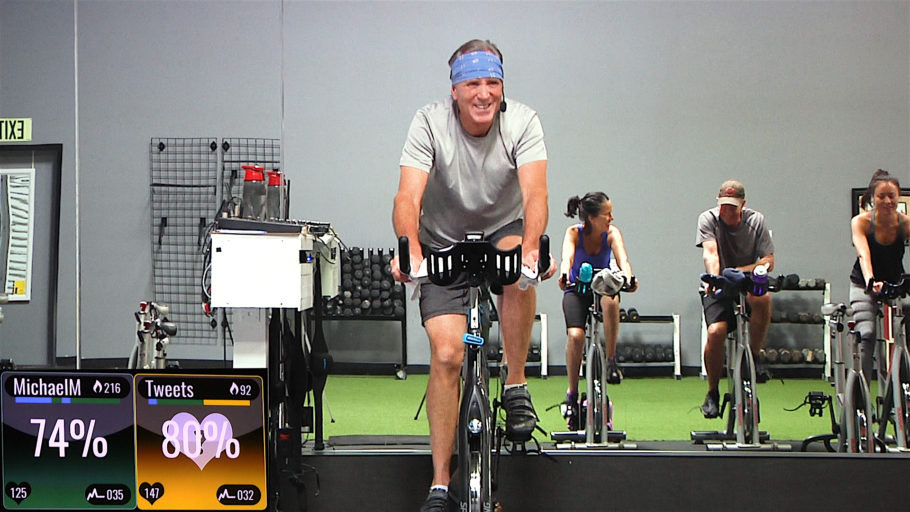 online Spinning class with lots of high cadence drills