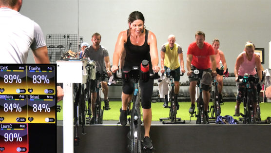 Spin class with all rap The Rap Ride