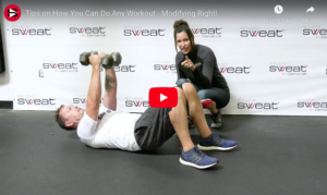 exercise modifications trainer tip video