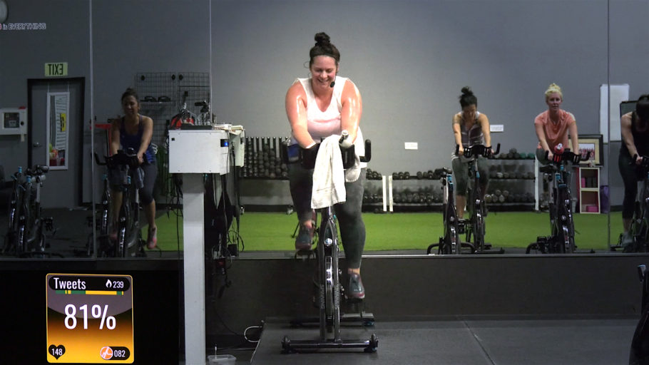 killer 60-Minute Spinning class video Red Zone Rollers