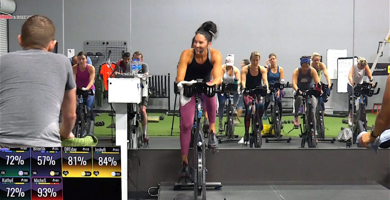 Spinning class packed with Motown classics