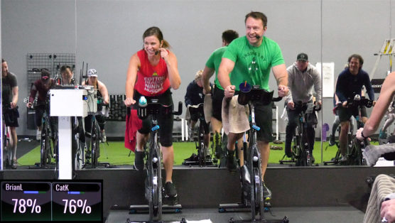 Holiday themed Indoor Cycling class with Christmas classics fit & festive holiday cycle