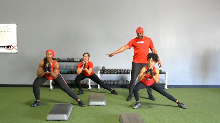 strength and cardio workout EB30X Shock 1,2,3, Legs