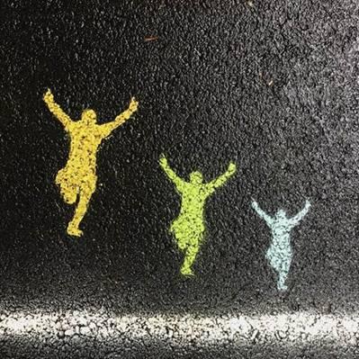 chalk art finish line