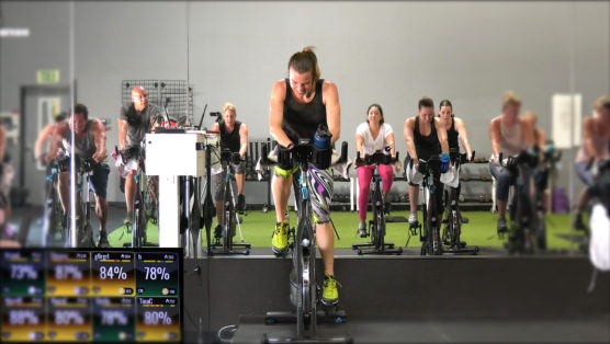 high-intensity Spin class 30-Min Non-Stop Spin®