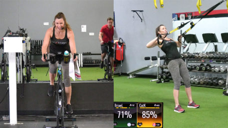 Spin & Strength combo class with Cat Kom Turn & Burn Spin Sculpt