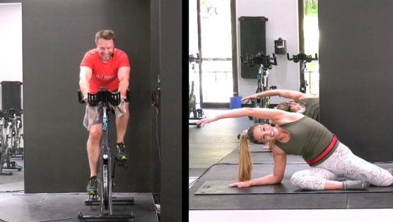 Cycle and Pilates video session Cycl-ates - Tempo and Flow