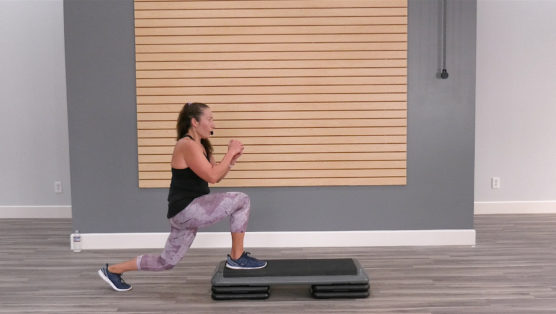 Step Class with body-sculpting strength exercises Step & Sculpt