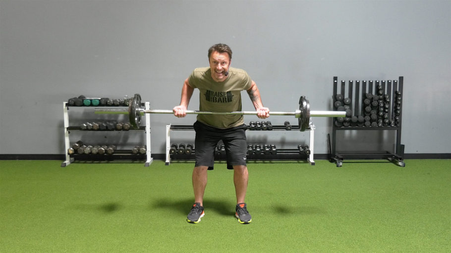 body-strengthening, online AMRAP barbell workout The Barbell AMRAP