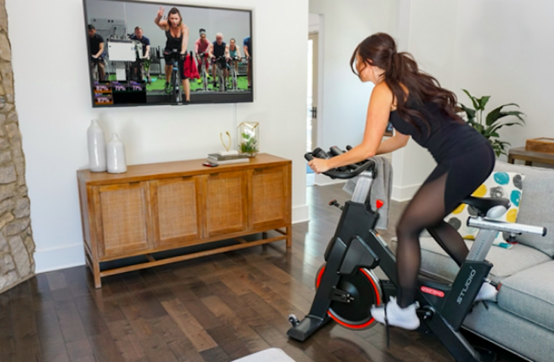 online spin class at home
