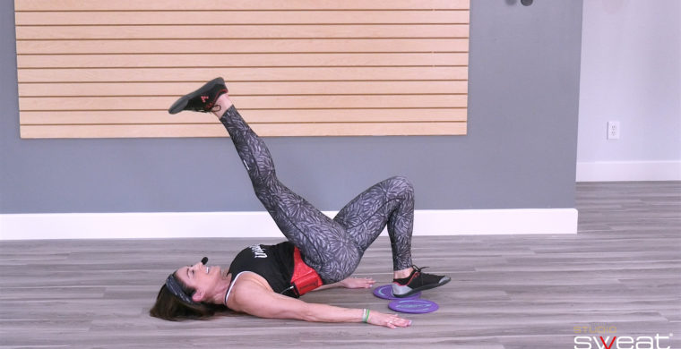 online workout with exercise discs 30 Min Slide & Sculpt