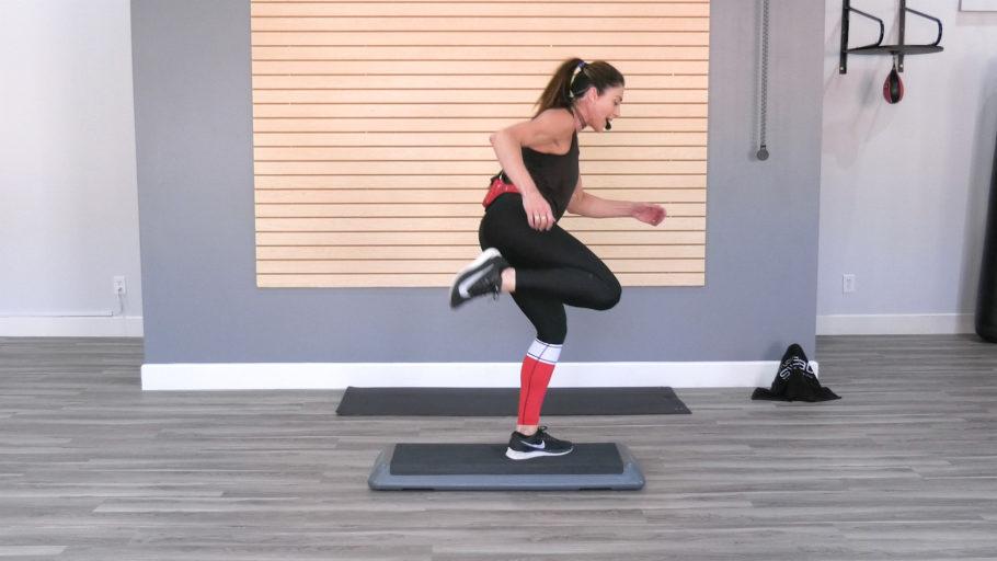 45-minute step-aerobic online video Old School Step Aerobics