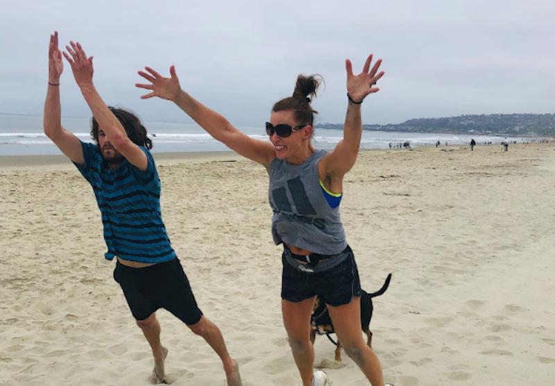 barefoot beach workout