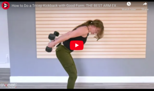 How to Do a Tricep Kickback with Good Form. THE BEST ARM EXERCISE EVERYONE CAN DO!
