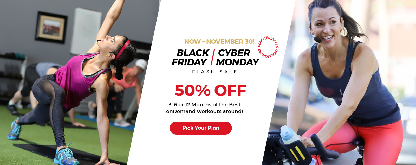 Shop Our BLACK FRIDAY SALE SUPER SALE and Get Unlimited Access to Studio SWEAT onDemand Indoor Cycling and Training workouts from home!