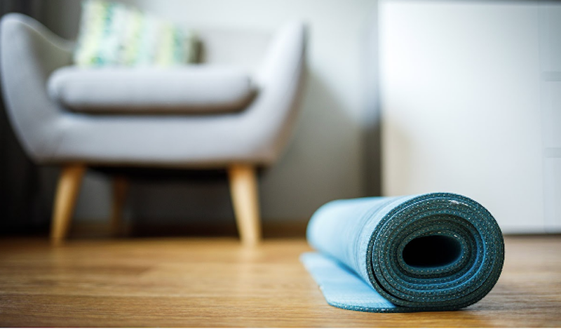 yoga mat at home