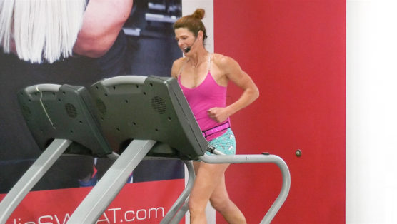 high-intensity treadmill interval workout