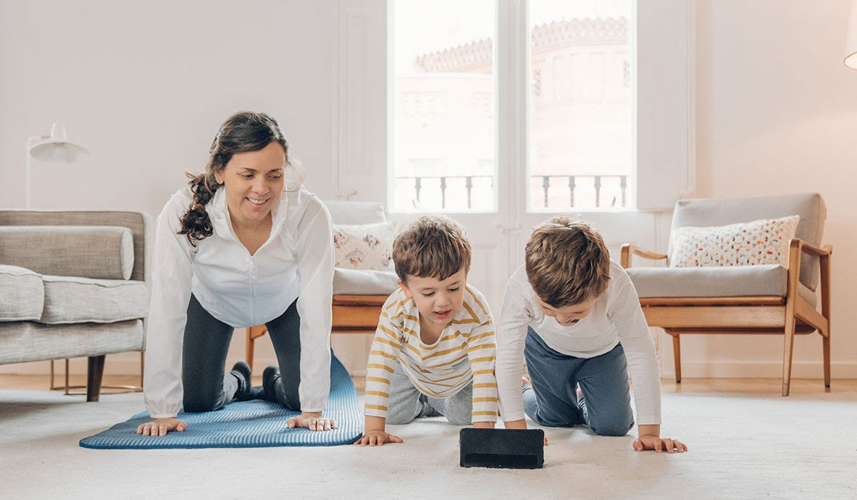working out with your kids
