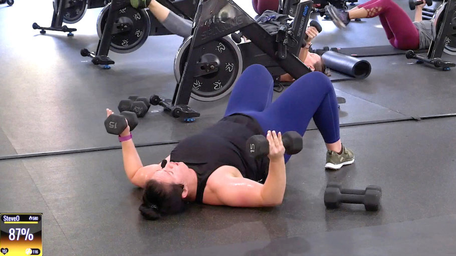 45-minute cycle and strength session Focused