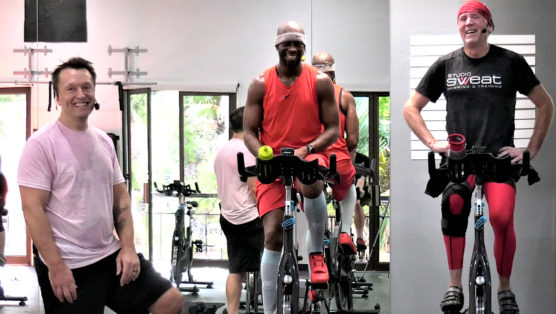 lovely indoor cycling session The Love Train spin class