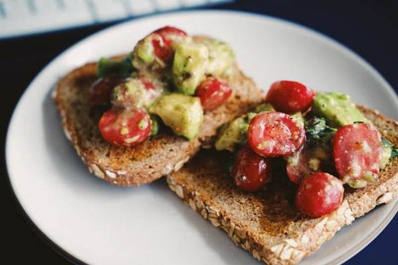 healthy toast breakfast